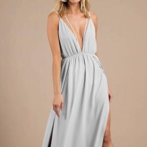 Tobi Starry Sky Plunging Maxi Dress (Size S)